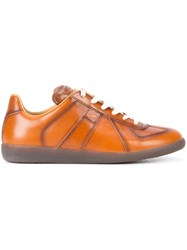 Maison Martin Margiela Lace Up Sneakers Brown