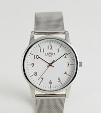 Limit Mesh Watch In Silver Exclusive To Asos 38Mm