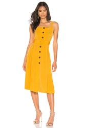 J.O.A. Buttoned Down Belted Dress Mustard