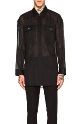 Ann Demeulemeester Sheer Double Pocket Shirt In Black