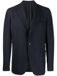 Caruso Regular Suit Jacket Blue