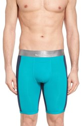 Tommy John Second Skin Boxer Briefs Oasis Green Dress Blues