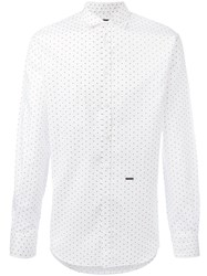Dsquared2 Diamond Print Shirt White