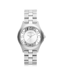 Marc By Marc Jacobs Henry Skeleton 34 Mm Silver Tone Stainless Steel Women's Watch