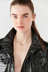 Urban Outfitters Luna Stone Lariat Necklace Gold