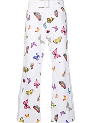 Palm Angels Butterfly Print Straight Trousers 60