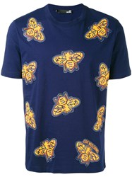 Love Moschino All Over Insect Print T Shirt Men Cotton S Blue
