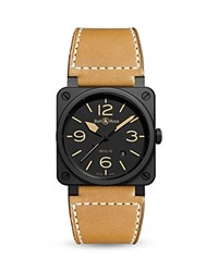 Bell And Ross Br 03 92 Heritage Ceramic Watch 42Mm Black Tan