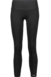 Bodyism I Am Flirty Mesh Paneled Stretch Leggings Black