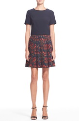 Ted Baker 'Delorez' Cherry Print Dress Navy