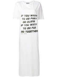 Each X Other Go Fast T Shirt Dress White