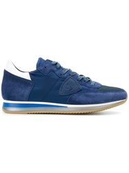 Philippe Model Tropez Sneakers Leather Suede Rubber Blue