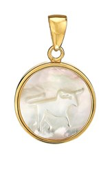 Asha Women's Zodiac Mother Of Pearl Charm Taurus