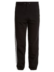 Msgm Logo Print Cotton Track Pants Black