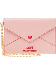 Miu Miu Madras Heart Envelope Wallet Pink And Purple