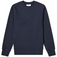 Universal Works Classic Crew Sweat Blue