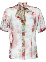 Dolce And Gabbana Daisy And Poppy Print Blouse Red