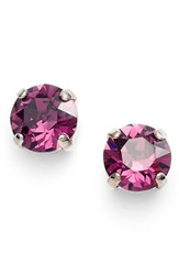 Women's L. Erickson 'Grace' Crystal Stud Earrings Amethyst Silver