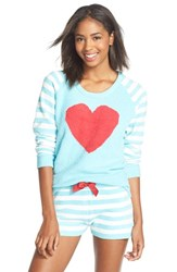 Women's Betsey Johnson Heart Raglan Sweater