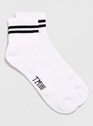 Topman Short Stripe Tube Socks White