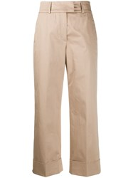 Peserico Cropped Straight Leg Trousers 60
