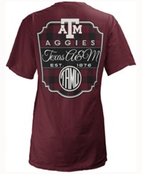 Royce Apparel Inc Women's Texas A And M Aggies Buffalo Plaid Big T Shirt Maroon