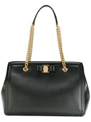Salvatore Ferragamo Melike Shoulder Bag Women Calf Leather One Size Black