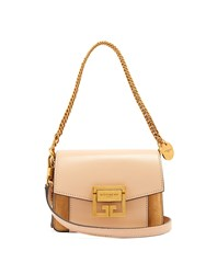 Givenchy Gv3 Mini Suede And Leather Cross Body Bag Nude