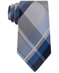 Geoffrey Beene Men's Far And Wide Classic Plaid Tie Blue