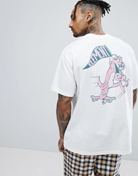 Element Tomcat T Shirt With Back Print White