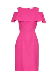 Osman Perfect 5 Sorida Wool Crepe Dress Pink