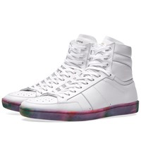 Saint Laurent 10 Multi Sole High Sneaker White