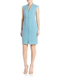 Lafayette 148 New York Christy Seamed Zip Dress Blue Steel