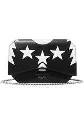 Givenchy Bow Cut Printed Leather Shoulder Bag Black