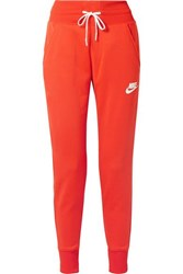 Nike Striped Stretch Jersey Track Pants Tomato Red