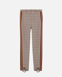 Stella Mccartney Brown Parker Check Trousers