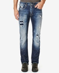 Buffalo David Bitton Men's Evan X Jeans Distressed And Whiskered