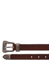 Saint Laurent 20Mm Western Style Leather Belt