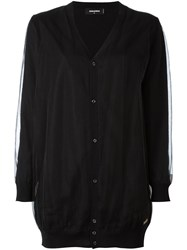 Dsquared2 Draped Detail Cardigan Black