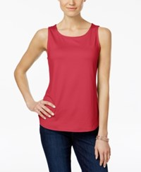 Charter Club Sleeveless Shell Only At Macy's Crushed Coral