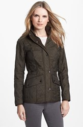 Women's Barbour 'Cavalry' Quilted Jacket Olive