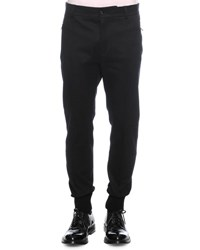 Dolce And Gabbana Woven Jogger Trouser Pants Black