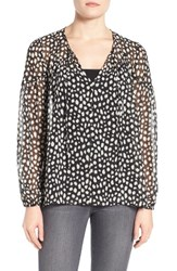 Gibson Women's Sheer Peasant Blouse