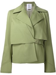 Rosie Assoulin Layered Structure Oversized Jacket Green