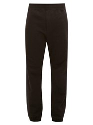 The Row Olin Cuffed Ankle Cotton Track Pants Black