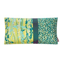 Clarissa Hulse St Lucia Patchwork Cushion 30X50cm Quince Kingfisher Duck Egg Pewter
