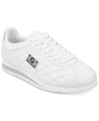G By Guess Romio Lace Up Sneakers White Nappa