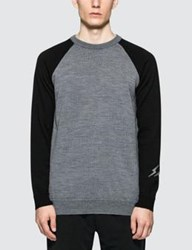 Denim By Vanquish And Fragment Bicolor Raglan Sleeve Sweater