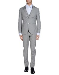 Luigi Bianchi Mantova Suits And Jackets Suits Men Light Grey