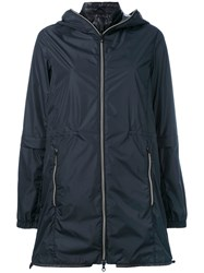 Duvetica Layered Hooded Jacket Women Feather Down Polyamide 44 Blue
